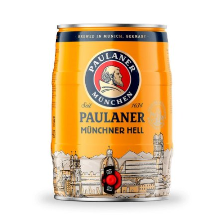Cerveja Paulaner Münchner Hell Barril 5L
