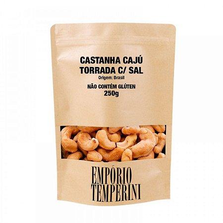 Castanha Cajú Torrada Salgada Tipo Exportação Premium 250g