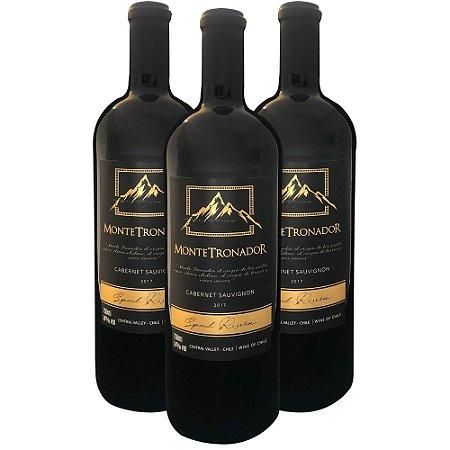 Kit 3 Vinhos Chileno Montetronador Cabernet Sauvignon Reserva