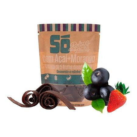 Snack Vegano - Rolinho de Frutas - Açai e Morango 30g