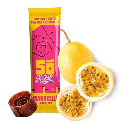 Snack Vegano - 3 Rolinhos de Frutas - Maracujá e Goji Berry