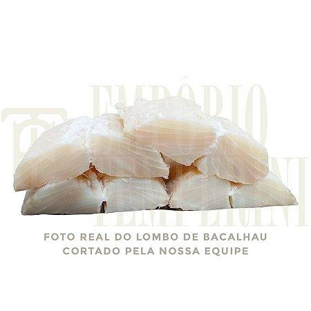 1,5kg Lombo Bacalhau Porto Gadus Morhua Sem Pele/espinha