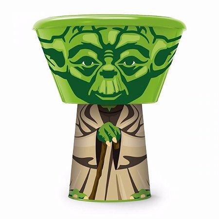 Kit Star Wars Mestre Jedi Yoda Pote com Tampa e Copo