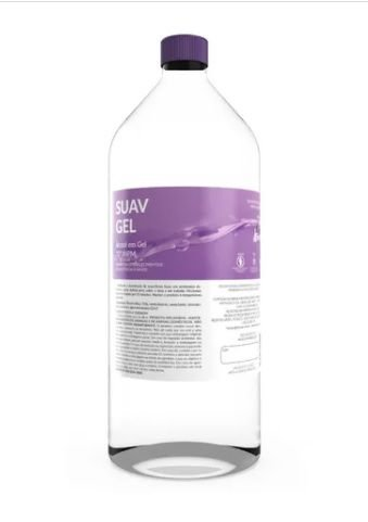 Álcool Gel Antisséptico Suavgel 70% (1L) - Fortsan