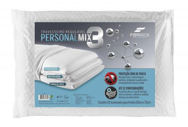 Travesseiro Regulável Mix 3 Personal 50cm x 70cm - Fibrasca