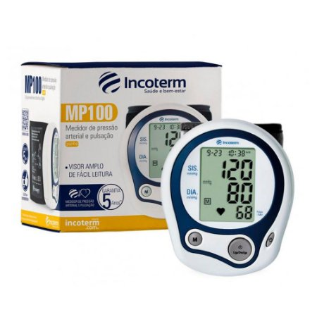 Aparelho de Pressão Arterial Digital de Pulso MP100 - Incoterm