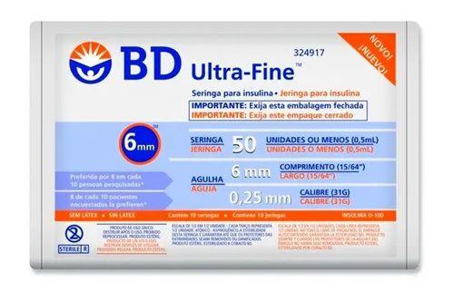 Seringa para Insulina Ultra Fine 0,5ml com Agulha (6mm x 0,25mm) - BD