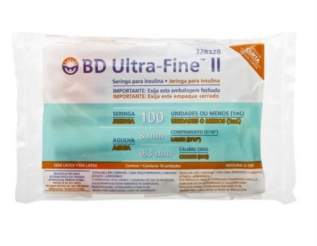 Seringa de Insulina Ultra-Fine 1ml com Agulha (8mm x 0,3mm) - BD