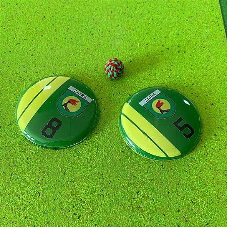ZAIRE - Fundo Verde - Faixas Amarelas