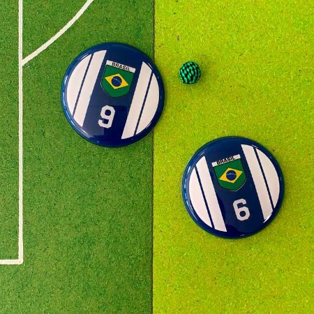 BRASIL - Fundo Azul - 4 Faixas