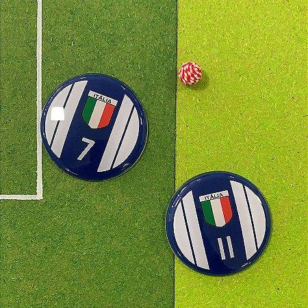 ITÁLIA - Fundo Azul - 4 Faixas Brancas