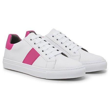Tênis Feminino Dona Dos Pés - Ref. 250 Branco/Rosa
