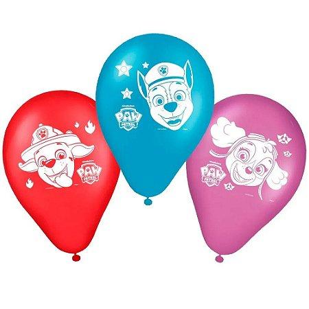 Balão Bexiga Patrulha Canina - 25 Unidades - Regina