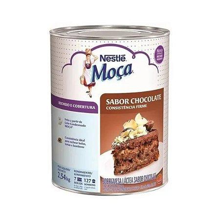 Recheio de Chocolate Consistencia Firme Moça  2,54KG Nestle