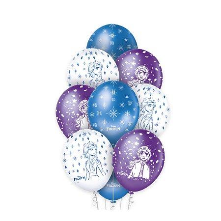 Balão Bexiga Frozen -  Premium - 10 unid