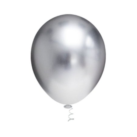 Balão Bexiga Platino Prata N5 - 25unid - Pic Pic
