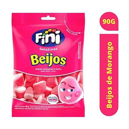 Bala Beijos de Morango 90g - Fini
