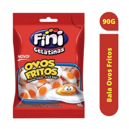 Bala Ovos Fritos 90g - Fini