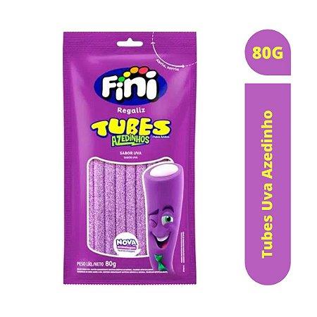 Bala Tubes Uva Azedinho 80g - Fini