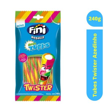 Bala Tubes Twister Azedinho 240g - Fini