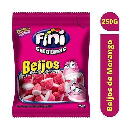 Bala Beijos de Morango 250g - Fini
