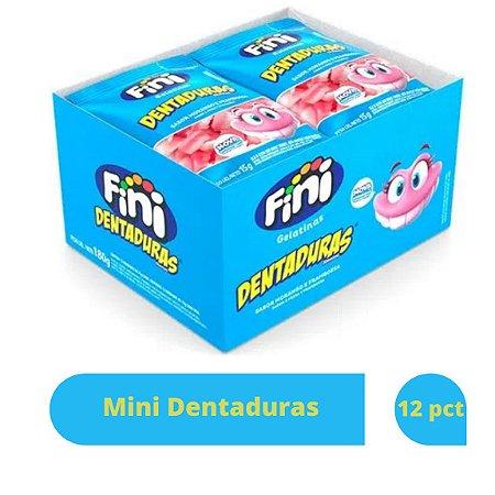 Bala Mini Dentaduras com 12 pacotes de 15g cada - Fini