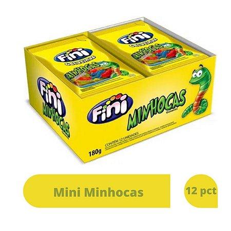 Mini Minhocas com 12 pacotes de 15g cada - Fini