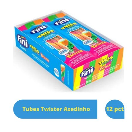 Bala Tubes Twister Azedinho com 12 unid de 15g cada - Fini