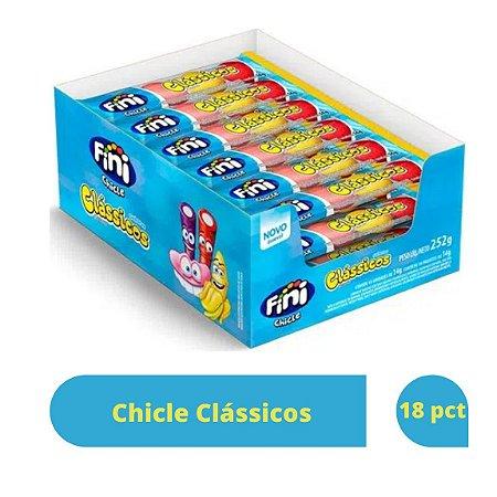 Chicle Clássicos com 18 unidades de 14g cada - Fini