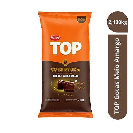 Cobertura Chocolate Meio Amargo Top - Gotas 2,100kg Harald