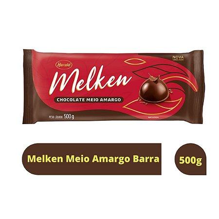 Cobertura Chocolate Meio Amargo Melken - Barra 500g Harald