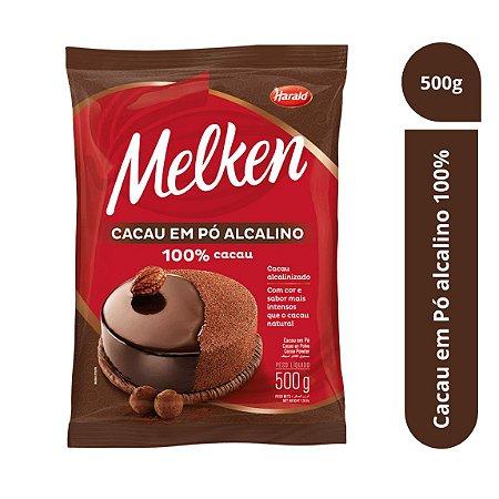 Cacau Em Pó Alcalino 100% Melken 500g - Harald