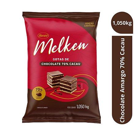 Chocolate Amargo 70% Cacau Gotas Melken 1,050kg