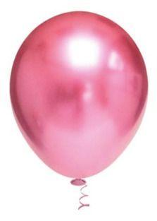 Balão Bexiga Metalizado Platino Rosa 5 - 25 Unid