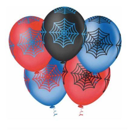 Balão Bexiga Teia De Aranha Sortido - 25unid Pic Pic