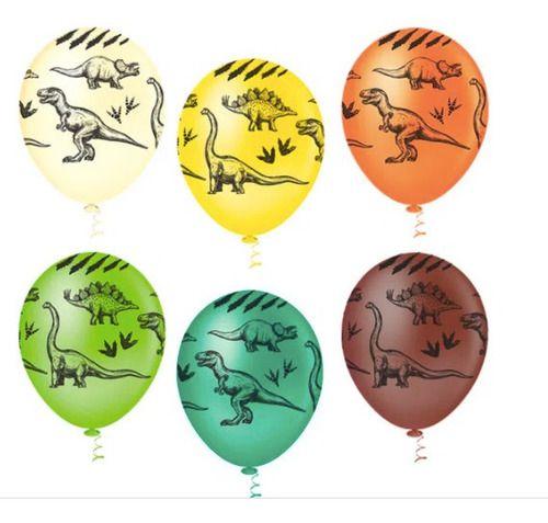 Balão Bexiga Dinossauro Sortido - 25unid Pic Pic