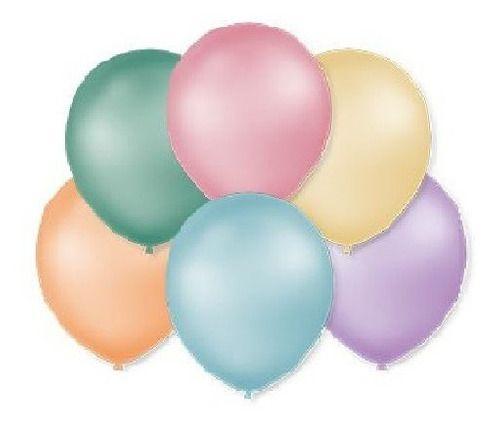 Balão Bexiga Perolado Tons Pastéis Nº 9 - 50 Uni