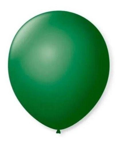 Balão Bexiga Redondo Liso Verde Escuro Nº 9 - 50uni