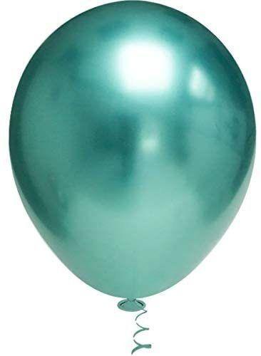 Balão Bexiga Metalizado Platino Verde 10 - 25 Unid