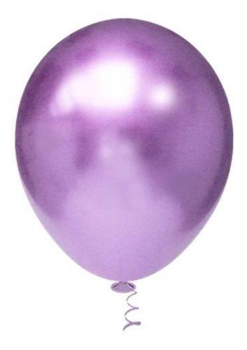 Balão Bexiga Metalizado Platino Violeta 10 - 25 Unid