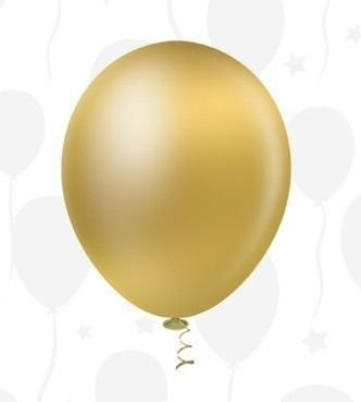 Balão Bexiga Ouro Metalizado 10 - 25 Uni
