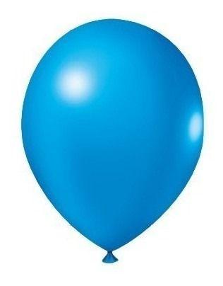 Balão Bexiga Redondo Liso Azul Royal Nº 9 - 50uni