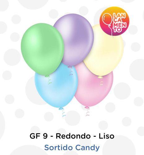 Balão Bexiga Candy Sortidos 9 - 50 Uni