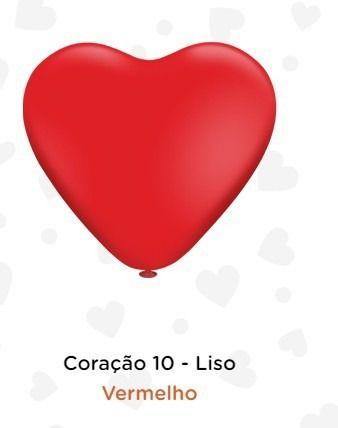 Balão Bexiga Coração Vermelho Liso 10 - 25uni