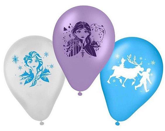 Balões Bexigas Frozen 2 - 25 Unidades - Regina
