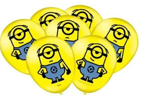 Balão Bexiga Minions - 25unid