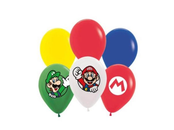 Balão Bexiga Super Mario - Sortidos 12 Uni