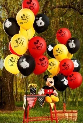 Balões Bexigas Mickey - 25 Unidades - Regina