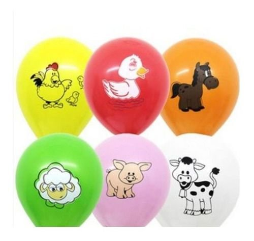 Balão Bexiga Fazendinha Sortido - 25 Uni