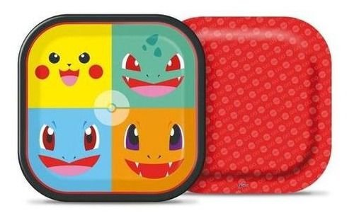 Prato Descartável Festa Pokémon 8 Unidades - Junco